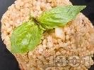 Рецепта Топла салата от сурова елда, гъби печурки и сметана